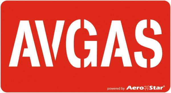 AVGAS-Aufkleber B 9,0 cm x H 5,0 cm