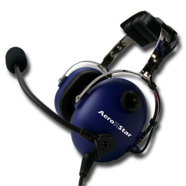 Kinder Piloten-Headset AeroStar -child- blau